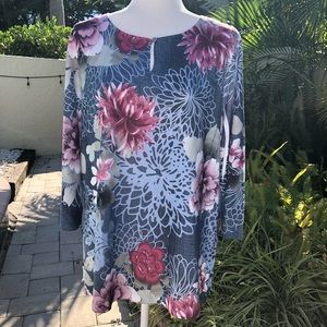 Chico's Floral Tunic Top